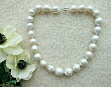 Huge White South Sea Keshi Reborn Baroque Pearl Necklace.