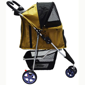 Open box  Best pet stroller cart for dog cat with wheels small large pushchair