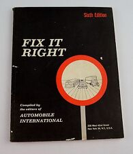 Fix It Right- Sixth Edition - BP179 - Parts Replacement, Sales, Maintenance