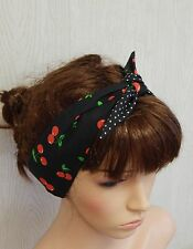 Rockabilly hair scarf, pin up headband, vintage style hair band, 50's head wrap