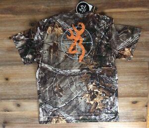 NWT Men's Browning Camo Short Sleeve Scope Buckmark T-Shirt - Realtree Xtra - L