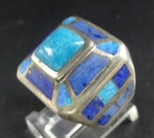 DAVID FREELAND Sterling Silver RING Turquoise Lapis Opal sz 5.25, New Old Stock