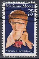 USA Briefmarke gestempelt 25c Marianne Moore 1887 - 1972 American Poet / 231