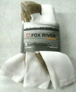 Fox River Socks, Fox River Work Value Pack Crew, Fox River 6527, 3 pair, USA Whi