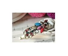 Fashion Retro Woman Girl Crystal Rhinestones Peacock Barrette Hairpin Hair Clip