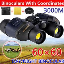 Day / Night 60 x 60 Esercito militare Zoom Ultra HD Binocolo Ottica Caccia