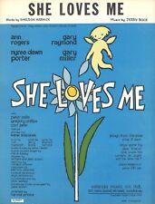"""Anne Rogers """"SHE LOVES ME"""" Nyree Porter / Bock & Harnick 1964 London Sheet Music"""