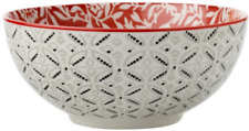NEW MAXWELL and WILLIAMS BOHO BOWL DAMASK RED 18cM DINNER SETS PLATES DECORATIVE