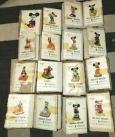 LOT Of 16 MICKEY MOUSE VTG TIWAN CERAMIC FIGURINE UNITED CHINA & GLASS CO W/ BOX