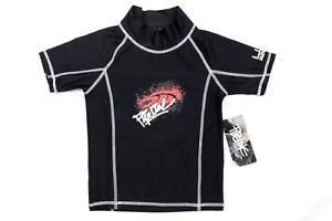 Pipeline Boy's Black Rash Guard Swim Shirt Short Sleeve Size 3T