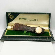 Vintage 1940's Tavannes 10k GF Military Style Mens Watch (6718)