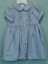 Baby Girls Oxford Cotton Dress and Bloomers from Ralph Lauren Size 3 Months