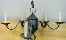 """McLean Lighting Works Ml-55 Lg Country Primitive Tin 5-Arm 25"""" Chandelier"""