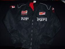Ferrari Black Jacket Vintage Racing Bomber Style Embroidered Patches Mens Large