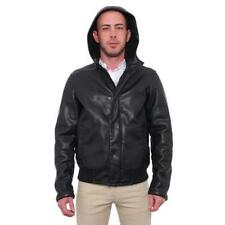 Faux Leather Basic Jackets for Men