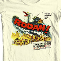 Rodan Flying Monster T-shirt vintage sci fi movie Godzilla film free shipping