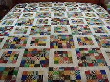 """Handmade Large Size Patchwork Quilt -84"""" x 84"""""""