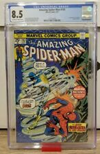 AMAZING SPIDER-MAN #143 CGC 8.5 OW/W PAGES // 1ST APPEARANCE CYCLONE 1975