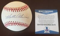 Matt Williams Giants Diamondbacks Signed Auto ONL Baseball Beckett COA