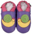 shoeszoo snail purple 18-24m S soft sole leather baby shoes