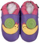 shoeszoo snail purple 18-24m S soft sole leather baby shoes