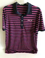 RLX Men's Ralph Lauren Polo Striped Short Sleeve Golf Shirt Size XXL