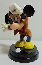DISNEY - DE AGOSTINI ITALY MICKEY MOUSE DETECTIVE 4'' DETAILED PVC FIGURE +STAND