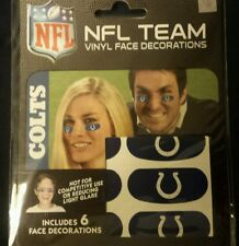 NFL Set of 6 Eye Strip Stickers Indianapolis Colts (Face/Body Decorations) 3 pr