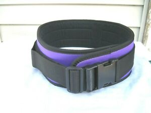 """Purple 5 1/2"""" Wide Weight Lifting Belt Bodybuilding Workout 38-44-Inches XL New"""