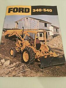 Ford 340 540 Tractor Loader Backhoe Color Brochure 14 page Original 1978 Vintage