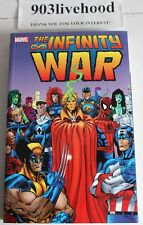 MARVEL COMICS INFINITY WAR TPB TRADE GRAPHIC NOVEL GN SIGNED JIM STARLIN RANEY