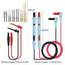 For Fluke Multimeter Leads Kit Probesalligator Clipstest Hooks Back Probe Pins