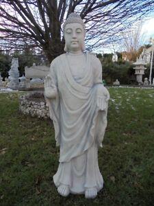 Buddha stehend, Der Glaube & Der Segen, Steinfigur, Skulptur, Gartenfigur, Stein