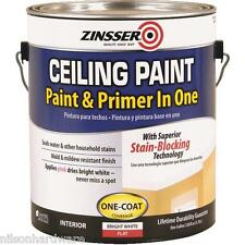 1 Gal Bright White Zinsser Paint & Primer In One Stainblock Ceiling Paint 260967