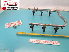 MERCEDES BENZ C240 C320 C32 FUEL RAIL W/ INJECTORS SET OF 6 1120700595 OEM