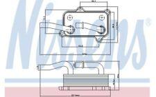 NISSENS Radiador de aceite, aceite motor MERCEDES-BENZ CLK CLASE C M E G 90599