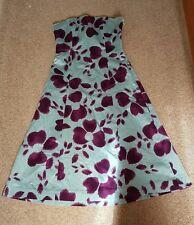Coast taffeta dress size 10 - Aqua purple floral -  wedding, summer formal
