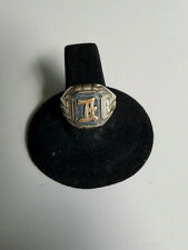 """Initial Ring 5.9g - """"A"""" Mens Vintage Estate .925 Sterling Silver"""