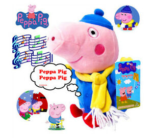 1PC CUTE 25CM GEORGE PIG WINTER PEPPA KID BABY SOFT PLUSH TOY STUFFED