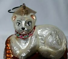 Christopher Radko Vintage Christmas Cat Ornament Purrfect 98-192-0 5In Yarn