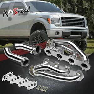 5.4 V8 STAINLESS STEEL HEADER EXHAUST MANIFOLD+MID/UP PIPE FOR 04-10 FORD F150