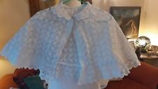 Antique Victorian Baby Cape Shawl ~ Hand worked Cutwork Whitework Embroidery