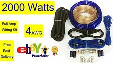 4 AWG Gauge Amplifier AMP Wiring INSTALLATION Kit High Quality Car Audio on sale