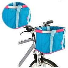 Bicycle Bike Folding Handlebar Bag Basket Box Front Rack Road Riding Carrying