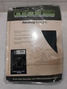 New Cabela's Heavy Weight Men's MTP Base Layer 2 Button Fleece Shirt Size 5XL fr