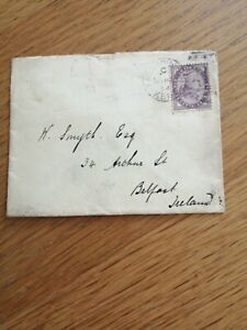 Envelope  from Kent to Ireland penny stamp