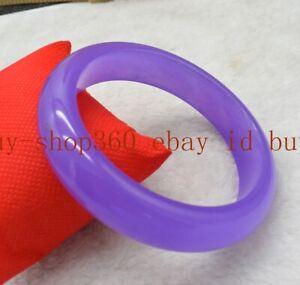 Pretty 67mm Extra Large Size Purple Jade Gemstone Bracelet Bangle AAA