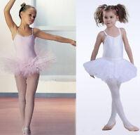 NWT Girls Kids Party Ballet Costume Tutu Bodysuit Leotard Skirt Dance Dress 4-8Y