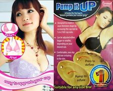 Inflatable Magic Bra Pad Inserts Breast Enhancers Adjust Lift Shape Pump Beige