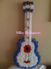 Seda Artificial flor corona fúnebre Floral tributos Guitarra Bespoke Memorial
